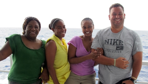 From Left to Right: Inidira Brown, Bahamas Dept. of Marine Resources; Krista Sherman, Bahamas National Trust; Angnessa Lundy, The Nature Conservancy Bahamas Office; Lindy Knowles, Bahamas National Trust