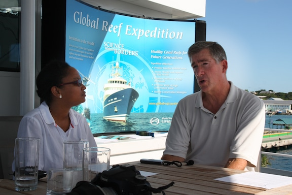 Executive Director, Philip Renaud is interviewed aboard the Golden Shadow