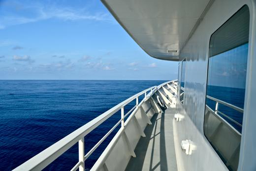 Flat calm seas