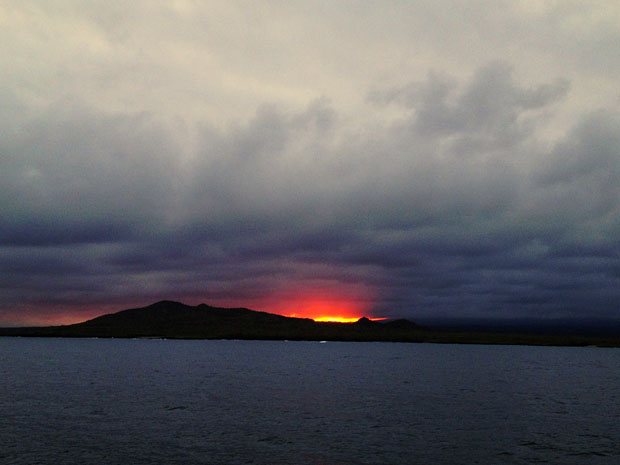 Sunset over Isabela Island