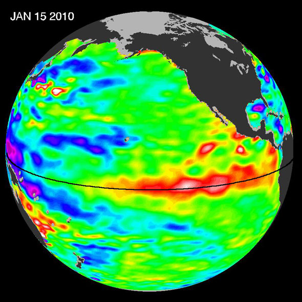 NASA image of 2010 El Nino