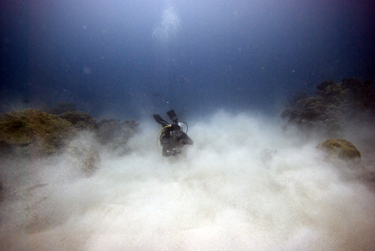 low visibility and challenging survey conditions underwater
