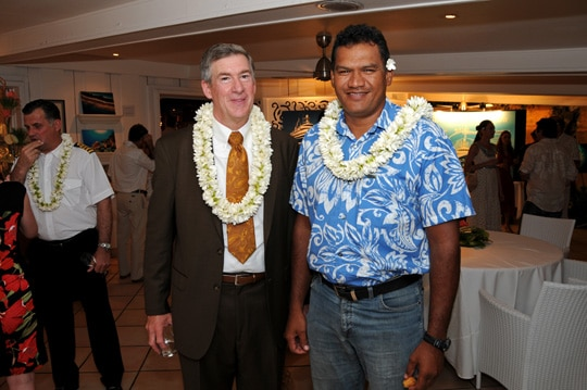 KSLOF Executive Director Philip Renaud and Minister for Education Tauhiti Nena